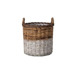 Uma Rattan Basket Set in Natural & White
