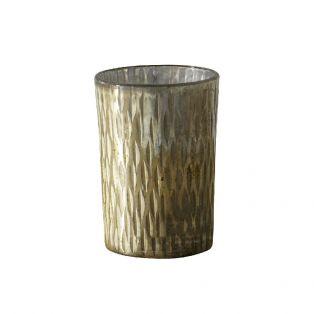 Aurelia Textured Glass Votive Holder