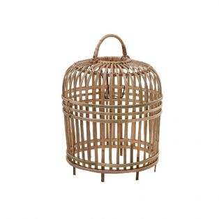 India Small Rattan Lampshade in Brown
