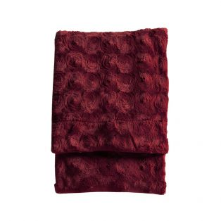 Berg Faux Fur Throw in Crimson