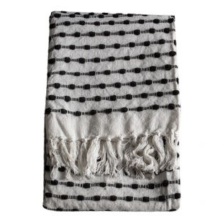 Lewis Knotted Throw in Monochrome
