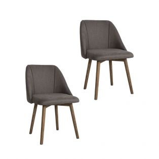 June Dining Chair in Dark Grey, Set of Two