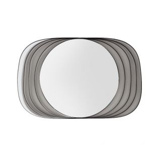 Drew Wall Mirror in Black