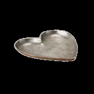 Cupid Silver Heart Shaped Dish, Medium