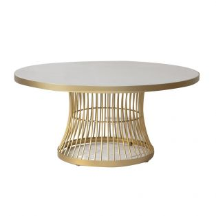 Heron White and Champagne Coffee Table