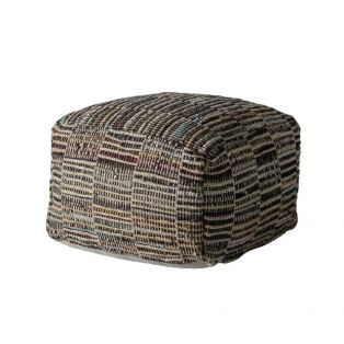 Liam Multicolour Hand-Loomed Pouffe
