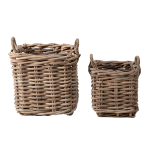 River Woven Basket Set in Natural