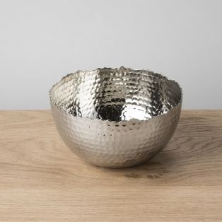 Arwen Hammered Bowl in Silver
