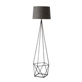 Jaxon Geometric Metal Floor Lamp in Brushed Bronze