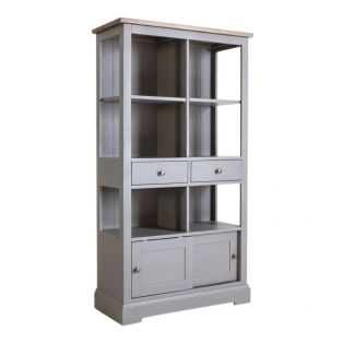 Cooper Oak Shelving Unit in Storm Grey