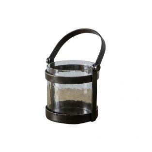 Orla Glass and Bronze Mini Lantern