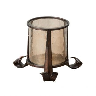 Arwen Small Lustre Glass Lantern in Bronze
