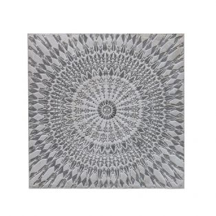Ahana Textured Wall Art in Silver