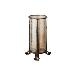 Arwen Large Lustre Glass Lantern in Bronze