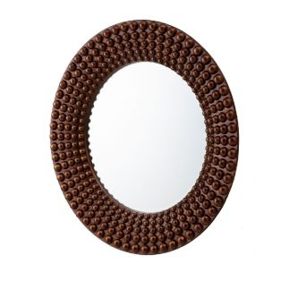 Marlo 3D Wall Mirror in Bronze