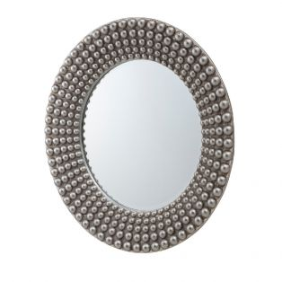 Marlo 3D Wall Mirror in Silver