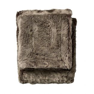 Lobo Faux Fur Throw in Chocolate Brown