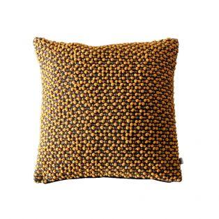 Pixie Pom Pom Textured Cushion in Yellow