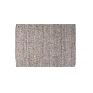 Manila Wool Mix Hand Woven Rug in Grey