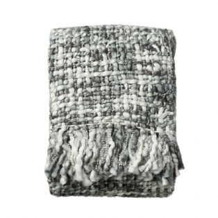 Lilly Chunky Knitted Throw in Pigeon Blue