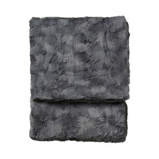 Berg Faux Fur Throw in Anthracite