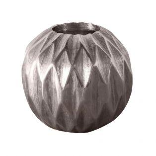 Starlight Metallic Silver Tealight Candle Holder, Medium