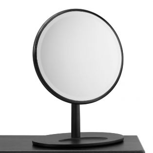 Rebecca Oak Dressing Table Mirror in Black