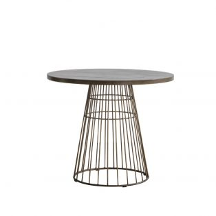 Louise Bistro Table in Bronze and Bronze Tile