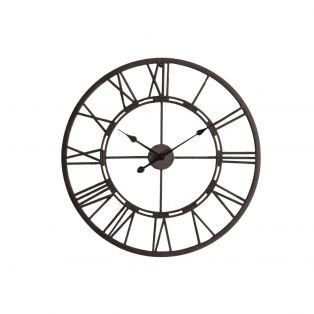 Luke Outdoor Clock in Antique Silver