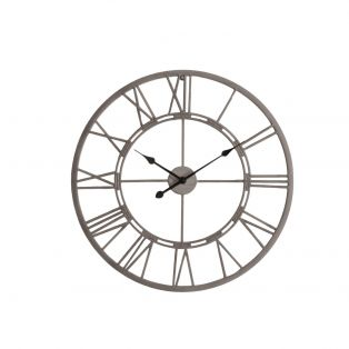 Luke Outdoor Clock in Silver