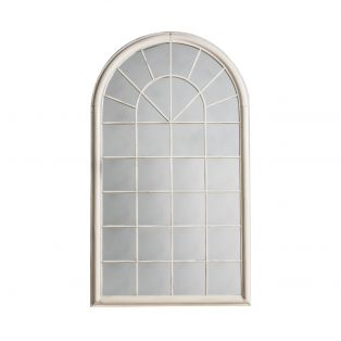 Fenella Outdoor Mirror in Weathered White
