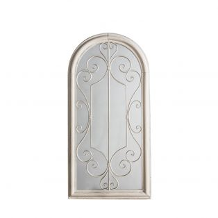 Bethany Outdoor Mirror in Weathered White
