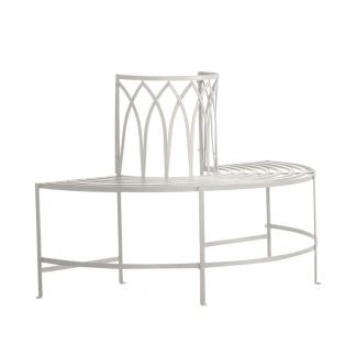 Thyme Outdoor Bench in Weathered White