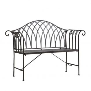 Zen Outdoor Bench in Black