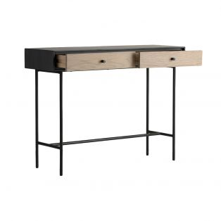 Joss Oak Two Drawer Console Table
