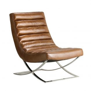 Edison Leather Lounger in Brown