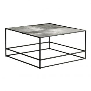 Rubin Coffee Table in Antique Silver