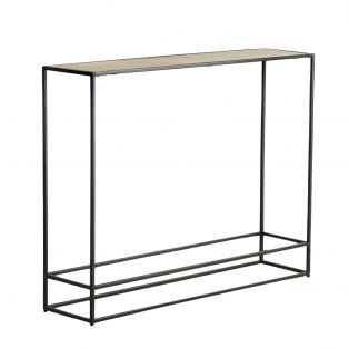 Rubin Console Table in Antique Gold