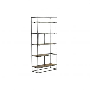 Rubin Display Shelving Unit in Antique Gold