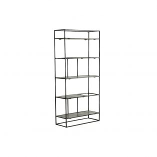 Rubin Display Shelving Unit in Antique Silver