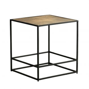 Rubin Side Table in Antique Gold