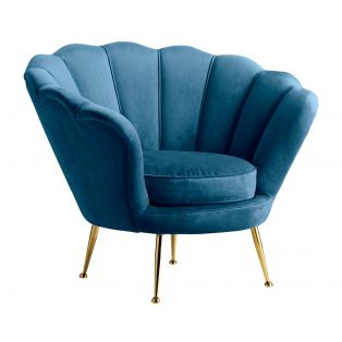 Brooke Velvet Armchair in Cobalt Blue