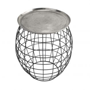 Ross Side Table in Antique Silver