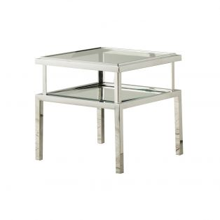 Cruz Silver Side Table