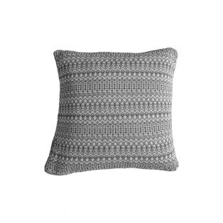 Edwin Knitted Cushion in Grey