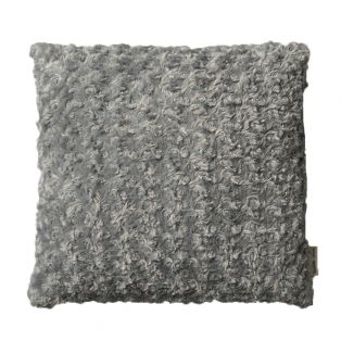 Yrsa Faux Fur Cushion in Mid Grey