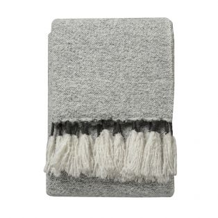 Quincy Hand-Woven Throw in Grey