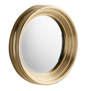 Laura Round Golden Wall Mirror