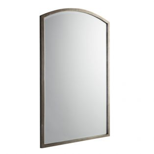Newport Arch Wall Mirror in Antique Silver