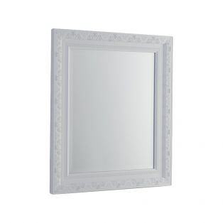 Reid Wall Mirror in Distressed White